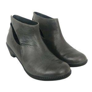 Dansko Gray Leather Bonita Bootie